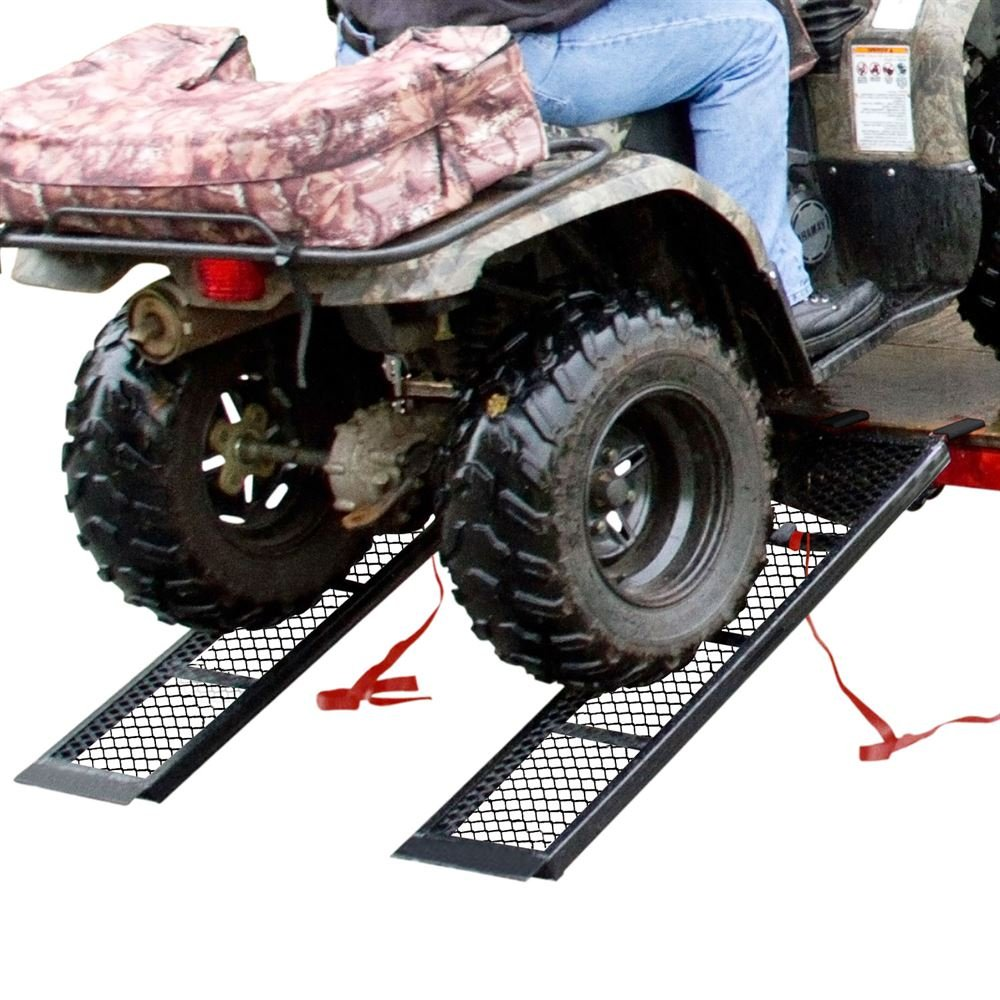 Rage Powersports ST-4811-1600-M-V2 Steel ATV Trailer Ramp (48.5'' Black, Pair)