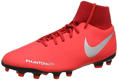 92e4988d3a7 Nike Men's Phantom VSN Club DF FG/MG Bright Crimson/Metallic Silver ...