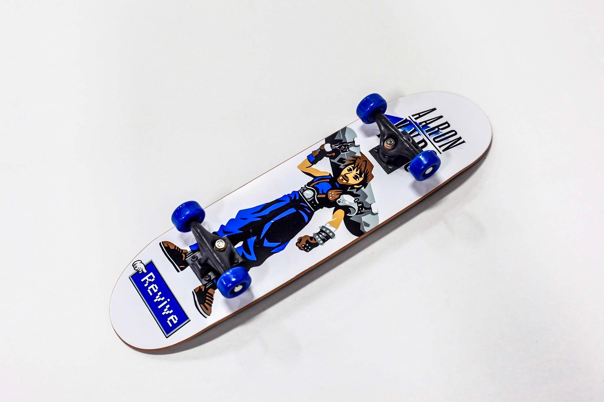Braille Skateboarding Aaron Kyro Warrior Mini 11inch Professional Hand Board. Toy Skateboard Comes with Wheels, Trucks, Hardware and Tools. Real Griptape. by Braille Skateboarding