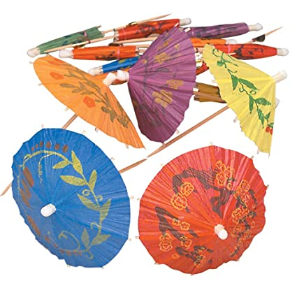 Cocktail Parasol Drink Umbrellas Box Of 144 Tropical Style