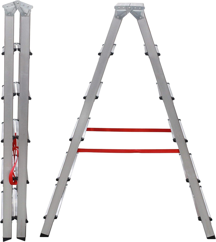 NAWA Escalera Doble Acceso Tijera de Aluminio 6 Peldaños EN 131 Capacidad Máx. 150 kg. Hecho en Europa (6 Peldaños): Amazon.es: Bricolaje y herramientas