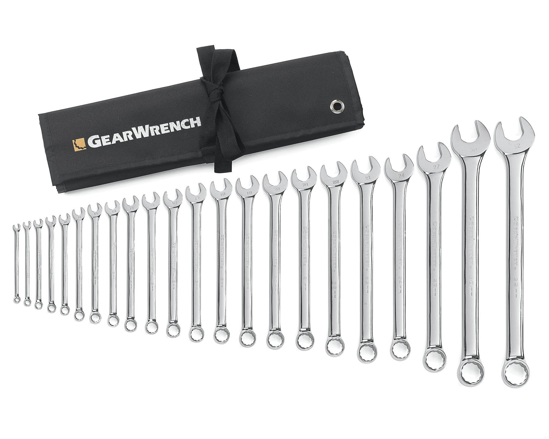 GearWrench 81916 22 Piece Metric Combination Wrench Set by GearWrench