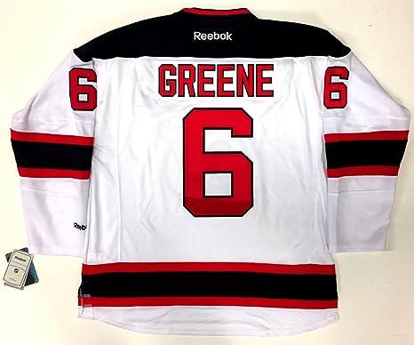 pretty nice a6c38 65ea3 Andy Greene New Jersey Devils Reebok Premier Road White ...