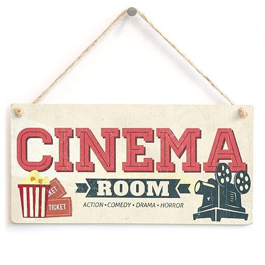 Cartel de cine en casa retro para sala de estar, sala de ...
