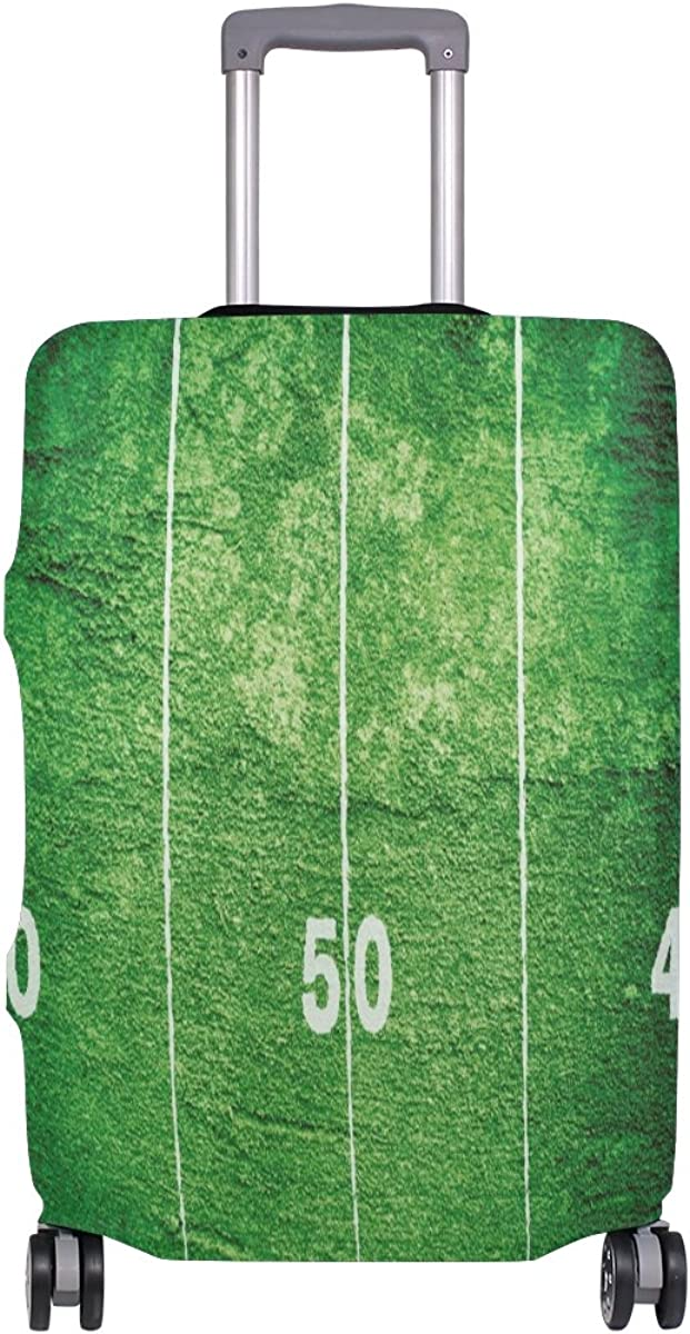 GIOVANIOR Grunge Football Field Luggage Cover Suitcase Protector Carry On Covers