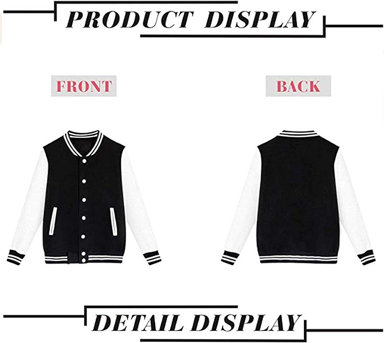 WMKAWA Mens Women Youth Baseball Jacket Uniform Coat Sport Jersey Outwear Plus Velvet