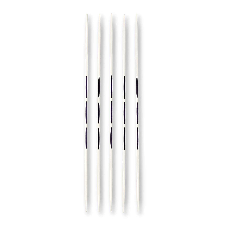 Prym–Double-Point ergonómico Tejer/Agujas, Metal,, 2,5mm, Longitud de 20cm, 5Unidades