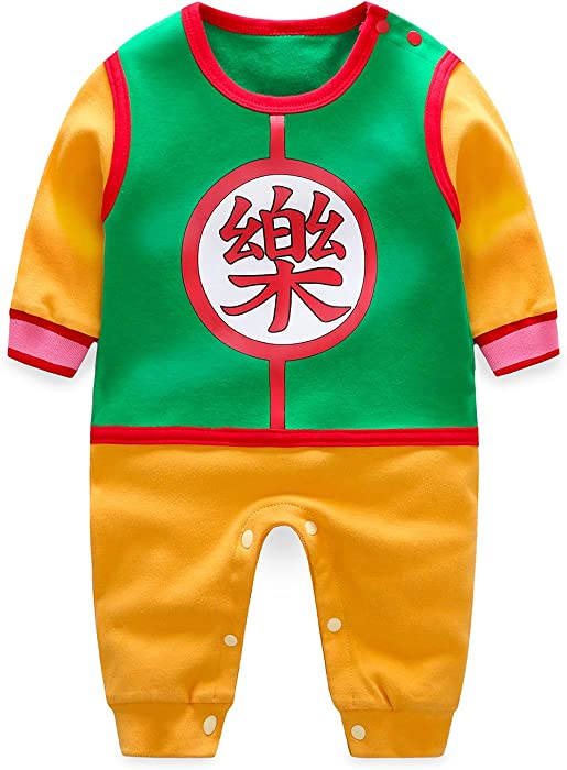 53f9451cbfa5 Amazon.com  Newborn Baby Boy Girl Dragon Ball Cute Romper Jumpsuit ...
