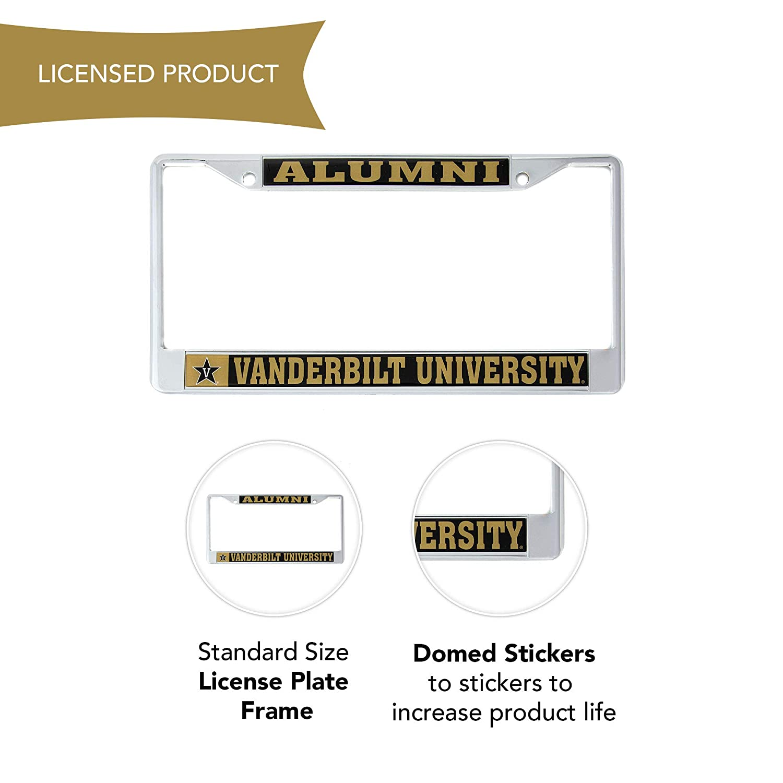Desert Cactus Vanderbilt University Alumni Metal License Plate Frame for Front Back of Car Officially Licensed VU Commodores Craftique