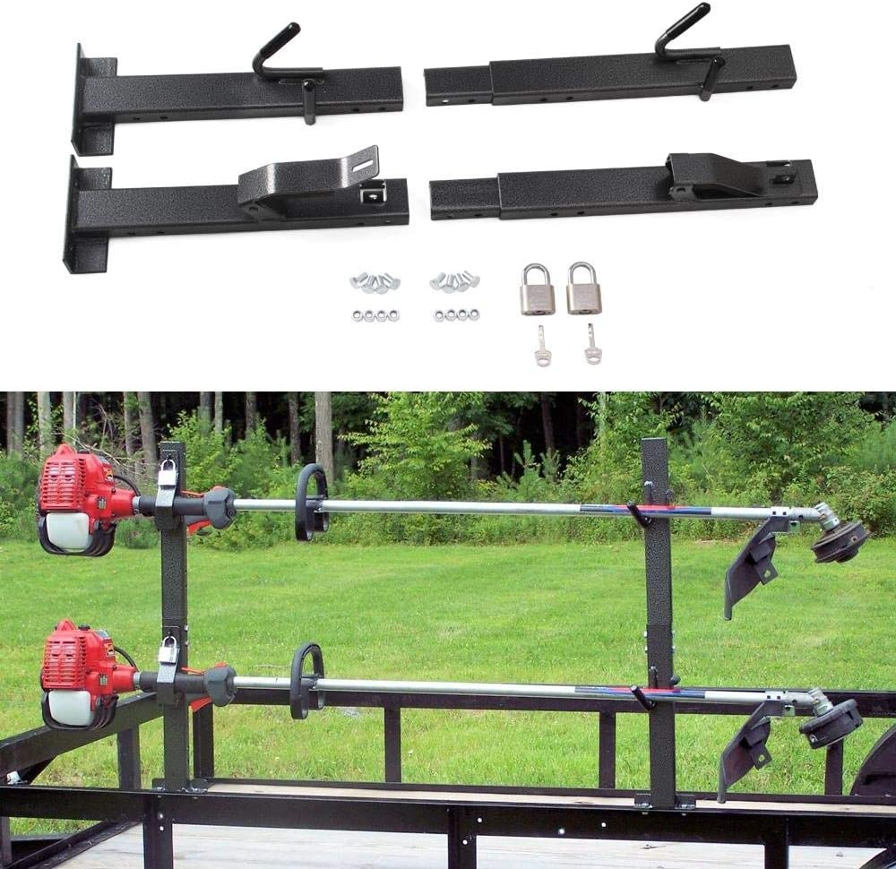 Tiewards 2 Place Lockable Trimmer Landscape Trailer Rack