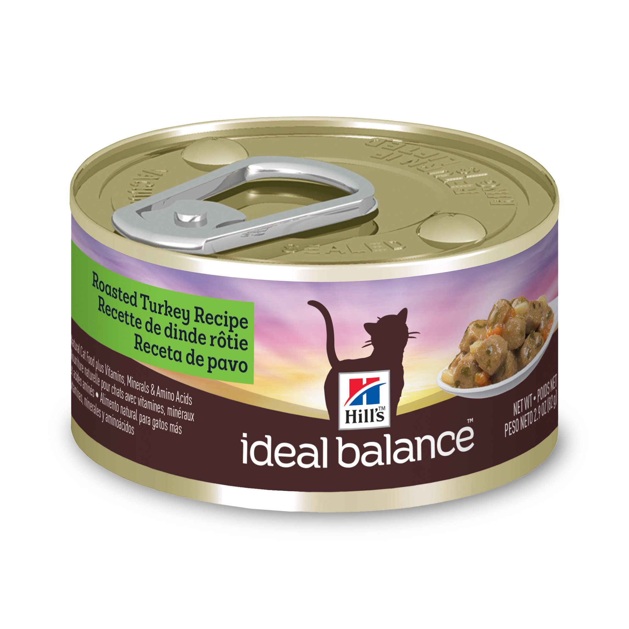 Hill'S Ideal Balance Adult Wet Cat Food, Roasted Turkey Recipe Canned Cat Food, 2.9 Oz, 24 Pack by Hill's ideal balance