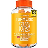 (100 Count) Organic Turmeric Gummies for Adults & Kids  Joint Pain Relief & Anti...