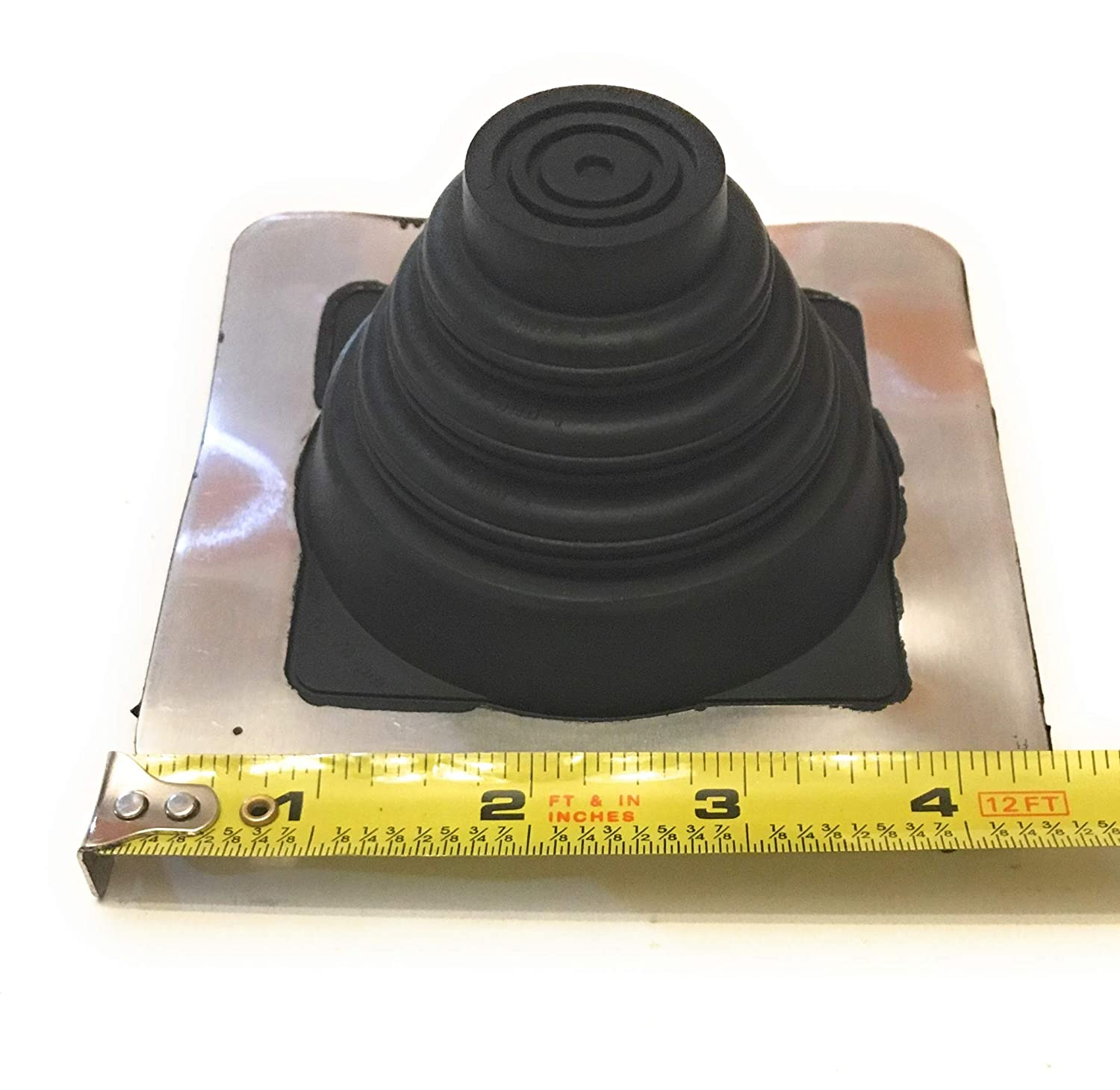 On Site Adjustable Roof Pipe Jack Boot with Round Base High Temp, 6 EAGLE 1 EPDM Flexible Roofing Pipe Flashing Boots