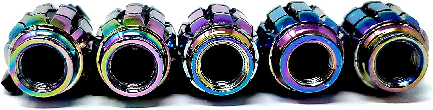 10 PACK Car Tire Air Valve Caps Auto Wheel Tire Dust Stems Cover with Emblem Emblem Waterproof Dust Proof Universal fit for Cars SUV Truck Motorcycles 10 Pieces RENGVO Neochrome Grenade