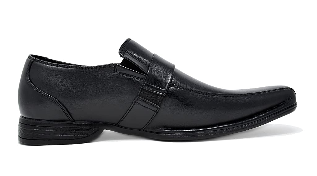 Bruno Marc Mens Cambridge-05 Black Leather Lined Dress Loafers Shoes Size 9 US// 8 UK