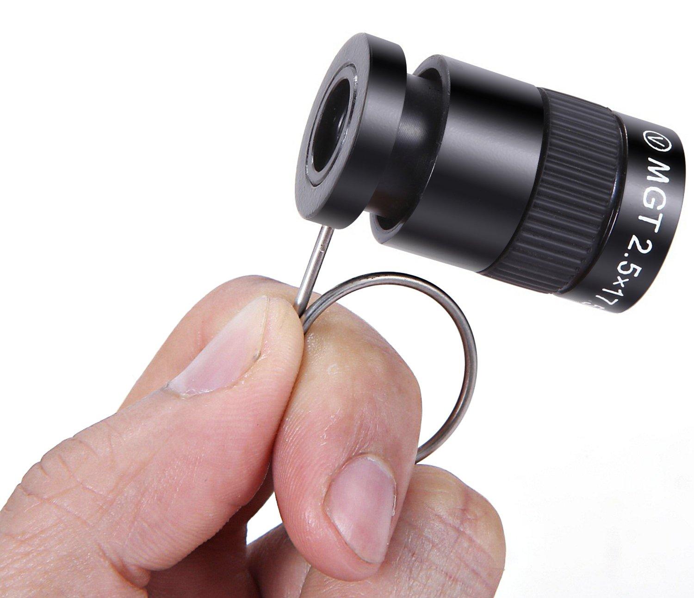 Mini Monocular Binocular Compact, Joyzy Thumb Handy Monocular Scope, Miniature Outdoor Spotting Scope 2.5X17.5 by Joyzy