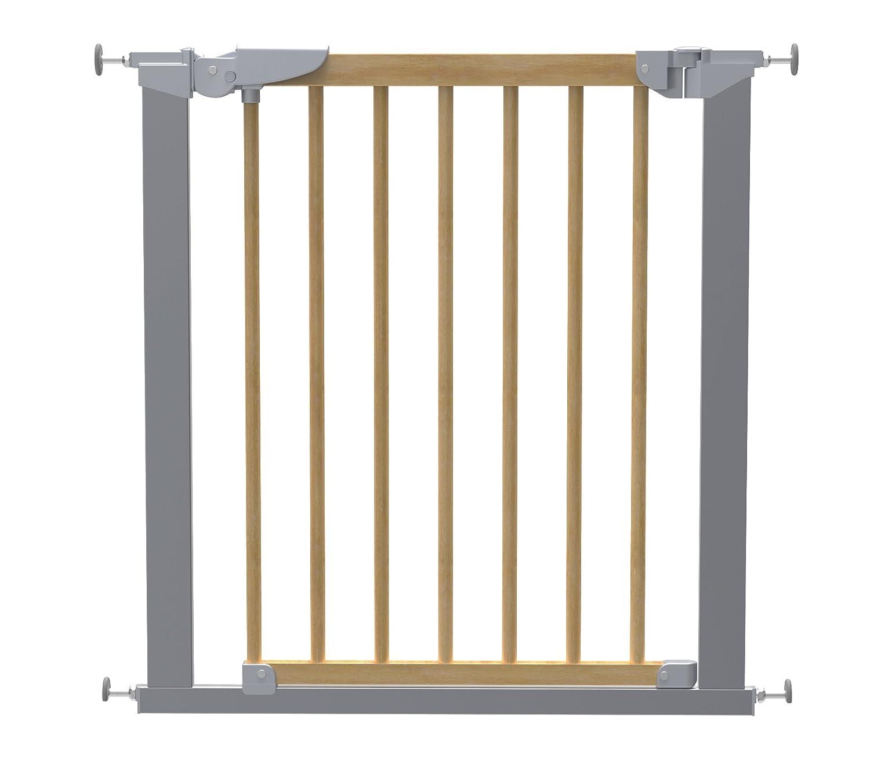 Baby Dan Avantgarde Barrière à Fixation par Pression pour Porte/Escalier Hêtre/Argent 71, 3-77, 6 cm BabyDan 53217-5790-02-85