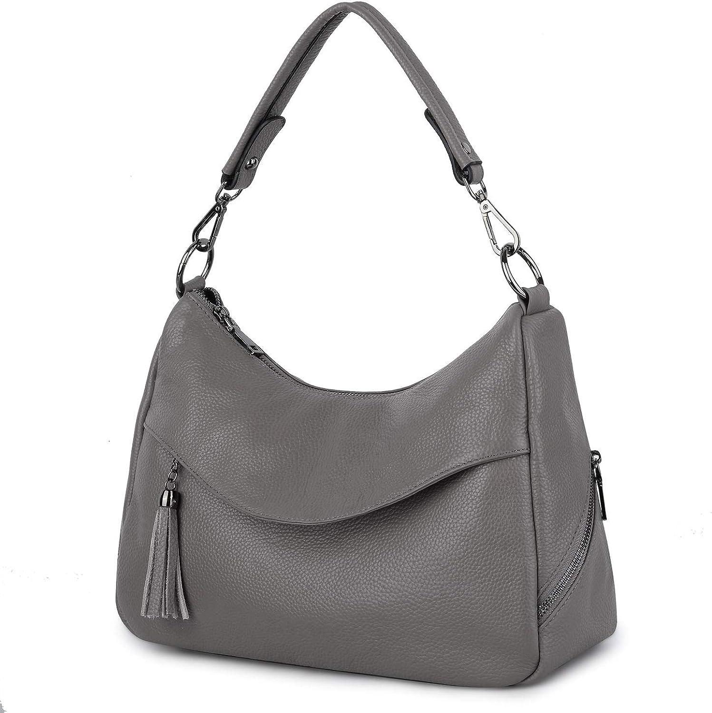 Bolso de mujer de cuero bolso de mano y bandolera AMBRA Moda Hobo bag GL005