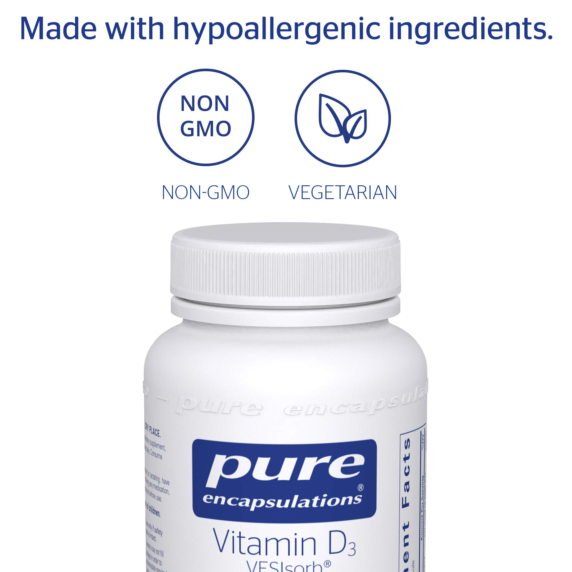 Pure Encapsulations - Vitamin D3 VESIsorb - Hypoallergenic Supplement for Enhanced Vitamin D Absorption - 60 Caplique Capsules by Pure Encapsulations (Image #4)