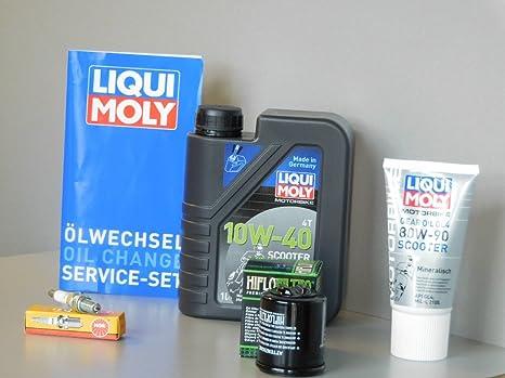 Kit de mantenimiento Piaggio X8 125 Aceite de aceite Bujía Service Inspección ölwechsel
