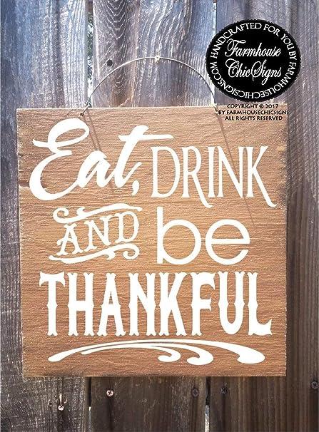 Amazon.com: GMK - Cartel de Acción de Gracias, diseño con ...