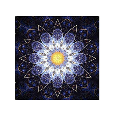 DIY 5D Diamond Painting Kit, Painting Cross Stitch Full Drill Crystal Rhinestone Embroidery Pictures Arts Craft Canvas for Home Wall Decoration Gift, Multilateral Flower
