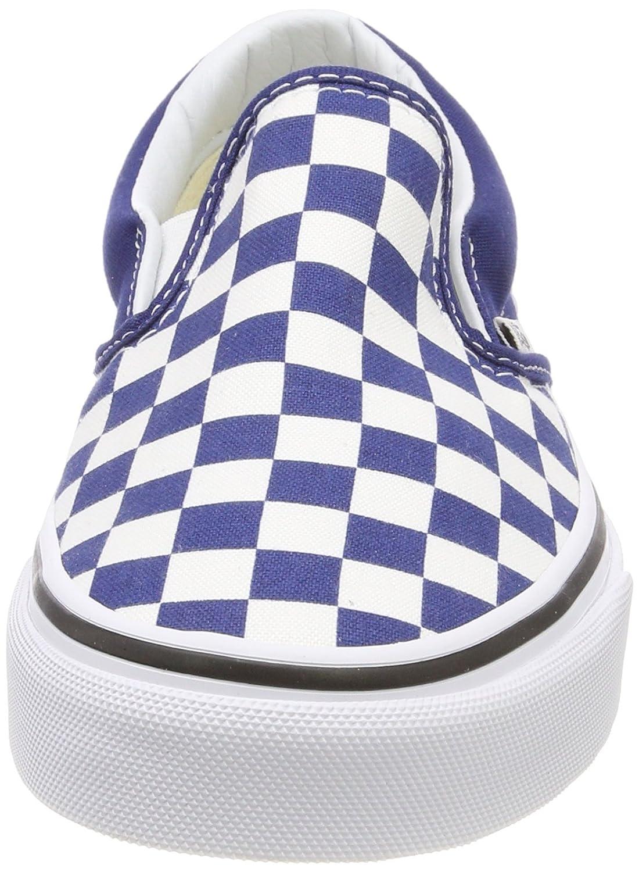 89b9211943 Zapatillas de skate Vans Unisex Classic Slip-on (Checkerboard) Checkerboard  Estate Blue True White