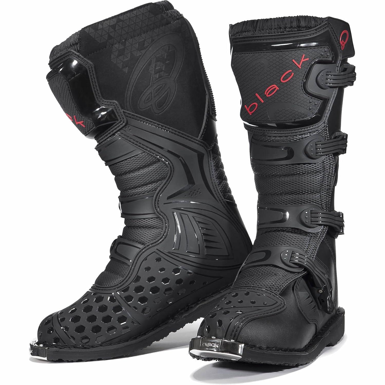 Black MX Enigma Motocross Boots UK 11/EU 45 Black