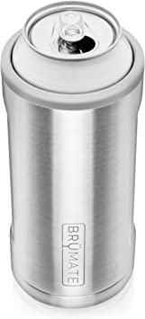 BrüMate Hopsulator Juggernaut Double-walled Stainless Steel Insulated Can Cooler For 24 Oz And 25 Oz Cans (Matte Gray)
