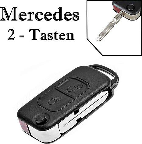 Jurmann Mercedes Benz Schlüssel Gehäuse Fernbedienung Klappschlüssel Ks03no W168 W202 W203 S202 S203 C208 A208 W124 W210 A124 C124 S124 W210 S210 W460 W461 W463 W163 W140 C140 R129 R170 638 2 Auto