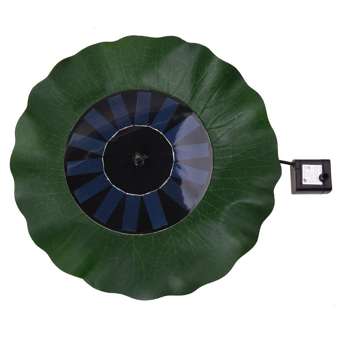 SODIAL(R)7V 1.4W lotus solaire pompe fontaine de la feuille