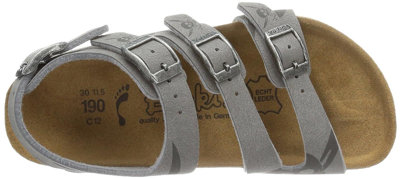 Birki ELLICE NUBUK BF DD - Sandalias de material sintético niño, color gris, talla 24