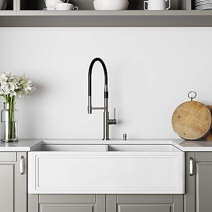 VIGO VGRA3618BLSF 36- Inch Farmhouse Kitchen Sink, Apron ...