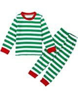 puseky Toddler Boy Girl Kids Striped Shirt + Pants Outfits Homewear Pajamas Set