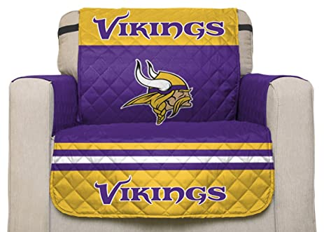 NFL Minnesota Vikings Chair Reversible Furniture Protector With Elastic  Straps, 75 Inches By 65