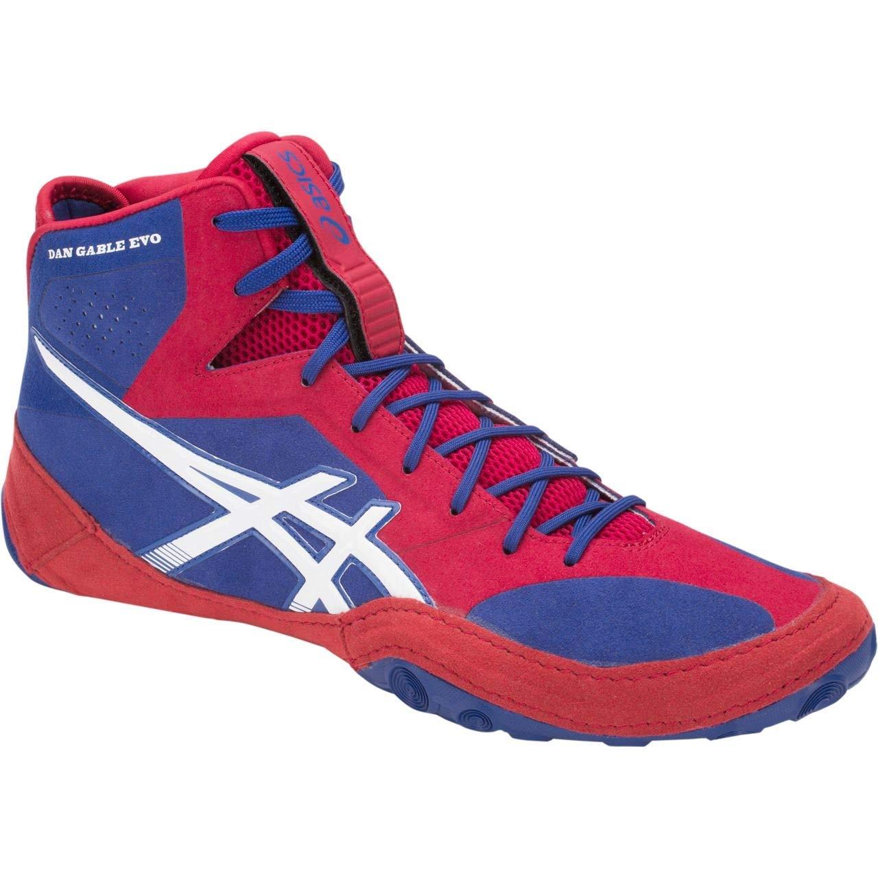 asics Dan Gable Evo Men's Wrestling Shoes, Asics Blue/White, Size 6.5