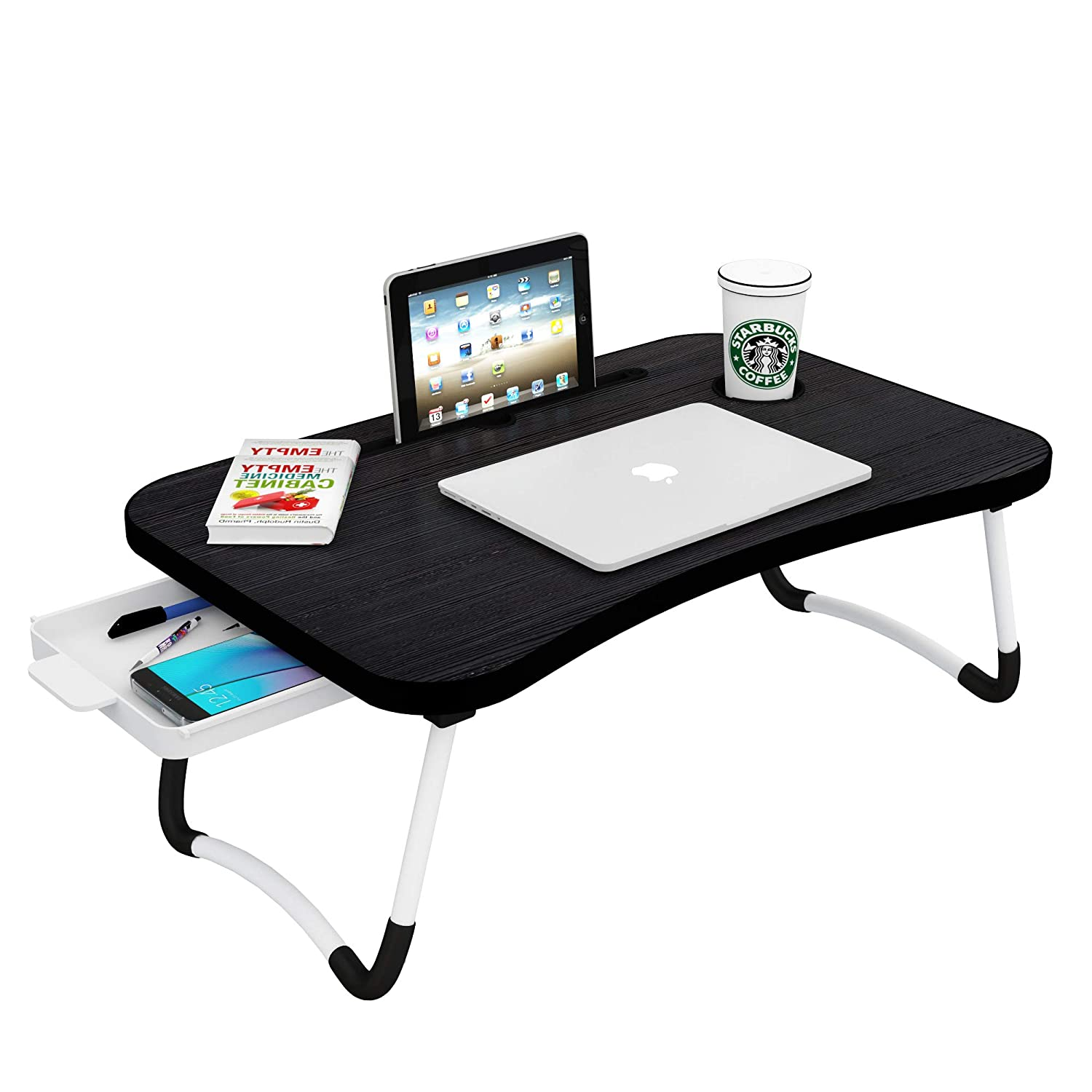 Callas Multipurpose Foldable Laptop Table with Cup Holder, Study Table