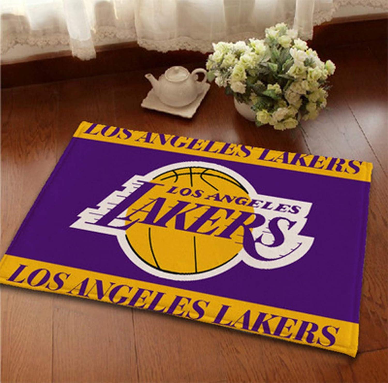 Alfombra de baloncesto Lakers, Zona Suave Alfombra Alfombra Alfombra Decorativa Alfombra Con Dormitorio Adell Slip Dormitorio Sofá Columna Mat Amarillo 40 * 100cm