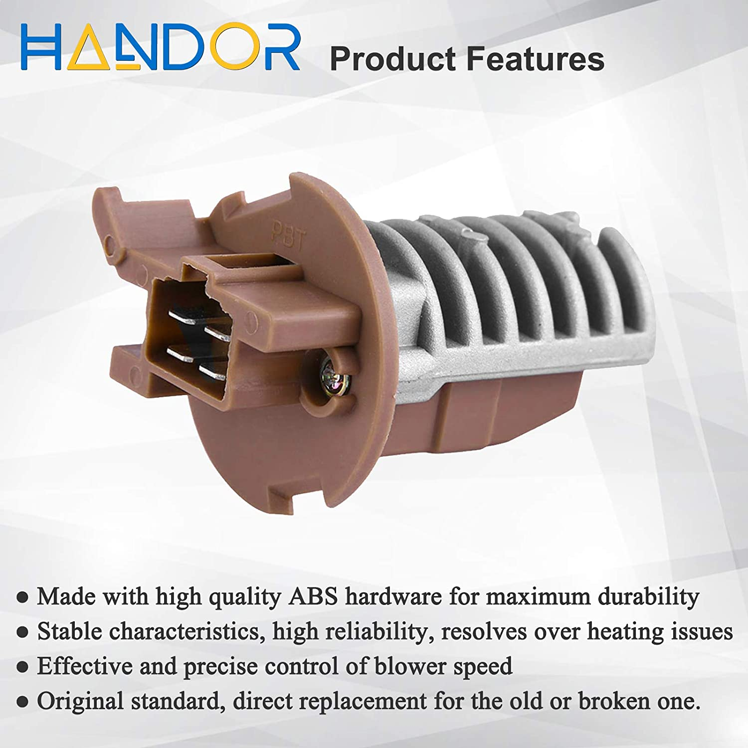 Handor Rear A//C Heater Blower Motor Resistor Compatible with Honda Pilot 2003-2008 Acura MDX 2001-2006 Replacement # JA1626 RU364 79330-S3V-A51 973-548