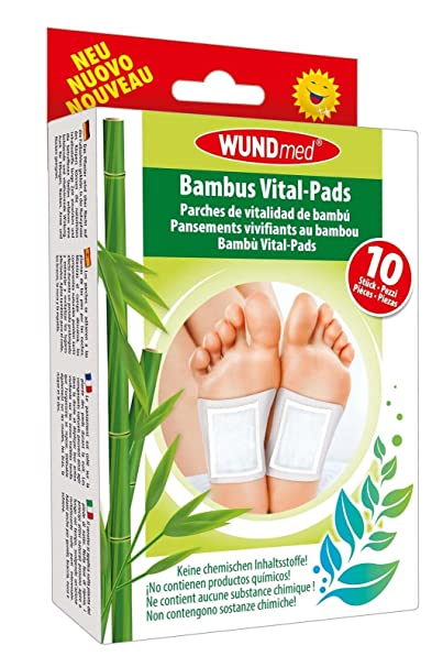 Bambus Vital Pflaster Pads Detox Turmalin Entschlackung Entgiftung