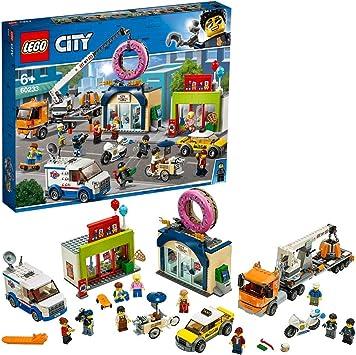 statement Darling Breeze  LEGO - City Inaugurazione del negozio dei Donut, Set con Macchinine Moto  della Polizia, Camion con Rimorchio per Gru e 10 Minifigure, Idea Regalo,  60233: Amazon.it: Giochi e giocattoli