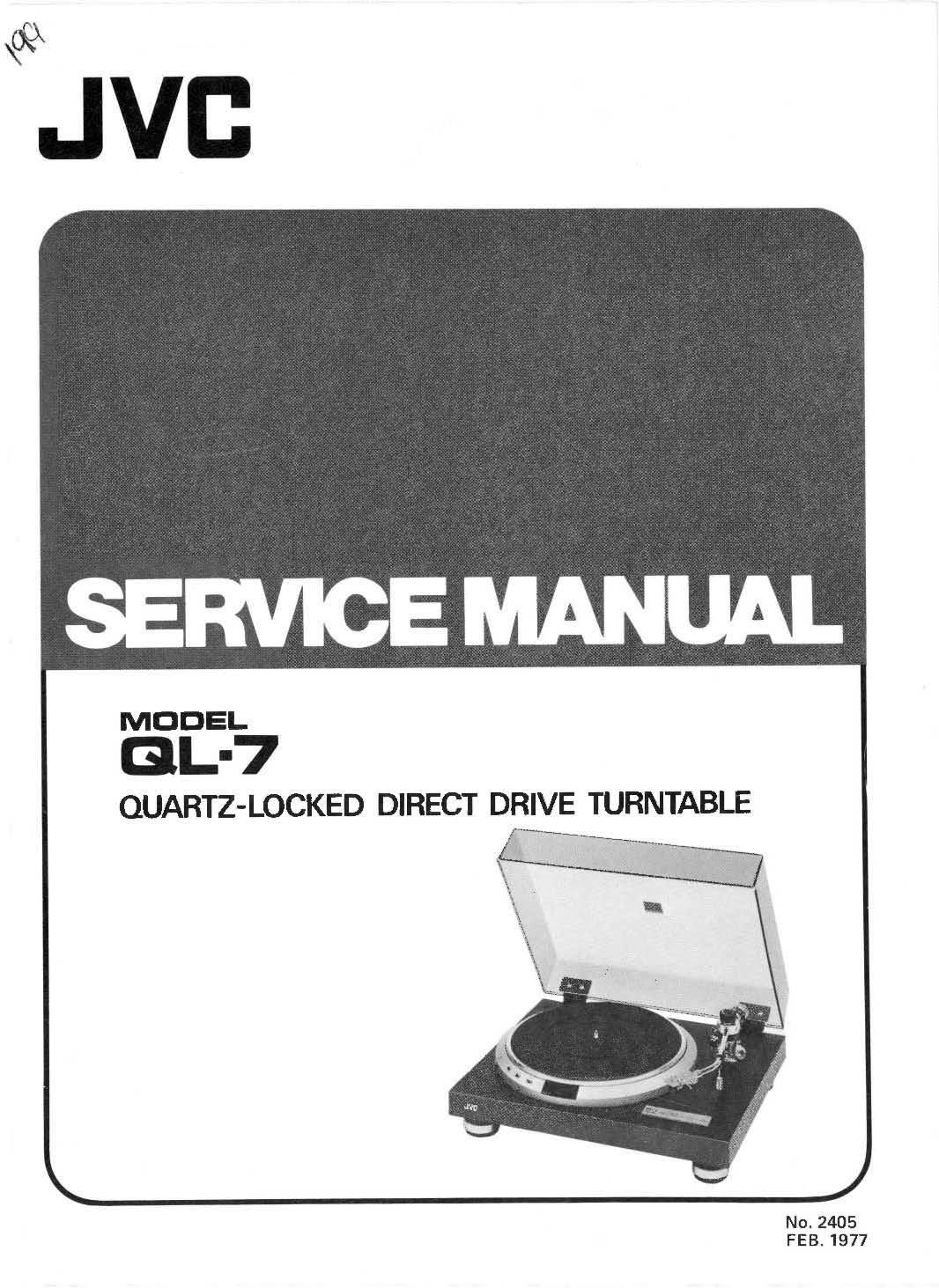 Jvc Ql7 Ql 7 Service Manual Books Schematic Diagram