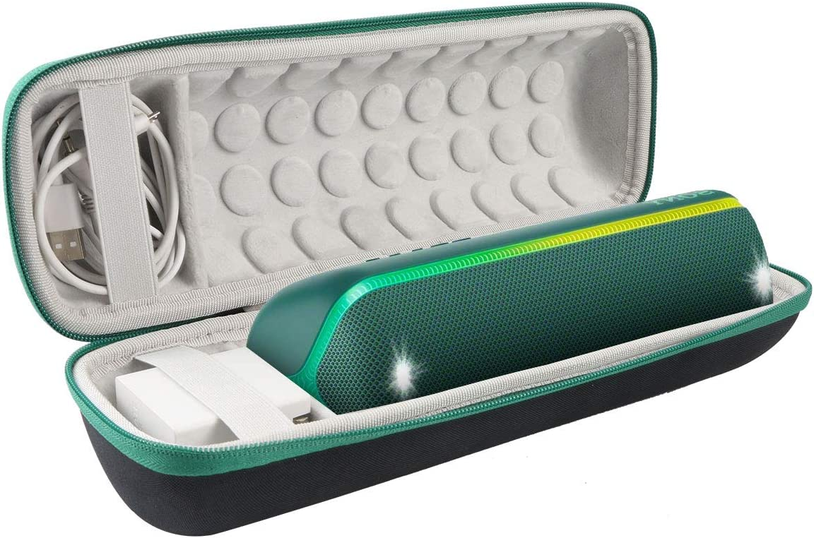 Khanka Hard Travel Case Replacement for Sony SRS-XB32 Extra Bass Portable Bluetooth Speaker Green Zipper