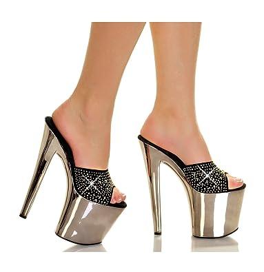 72de61390c033 Highest Heel Fantasy-201 Rhinestone Heels