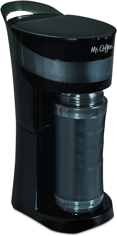 Mr. Coffee Pour Brew Go Personal Coffee Maker, Midnight Black