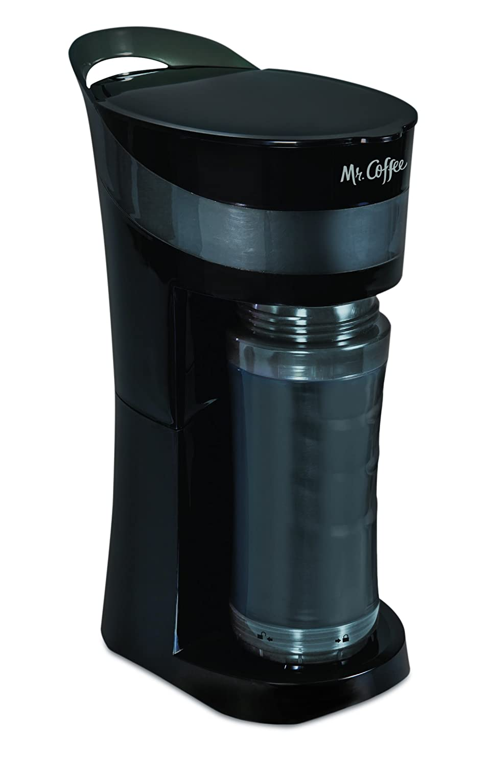 Mr. Coffee Pour! Brew! Go! Personal Coffee Maker, Midnight Black ;;;