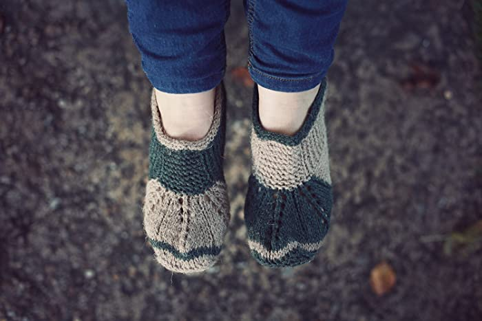 0e12980dd1727 Hand knit natural wool socks slippers: Amazon.co.uk: Handmade