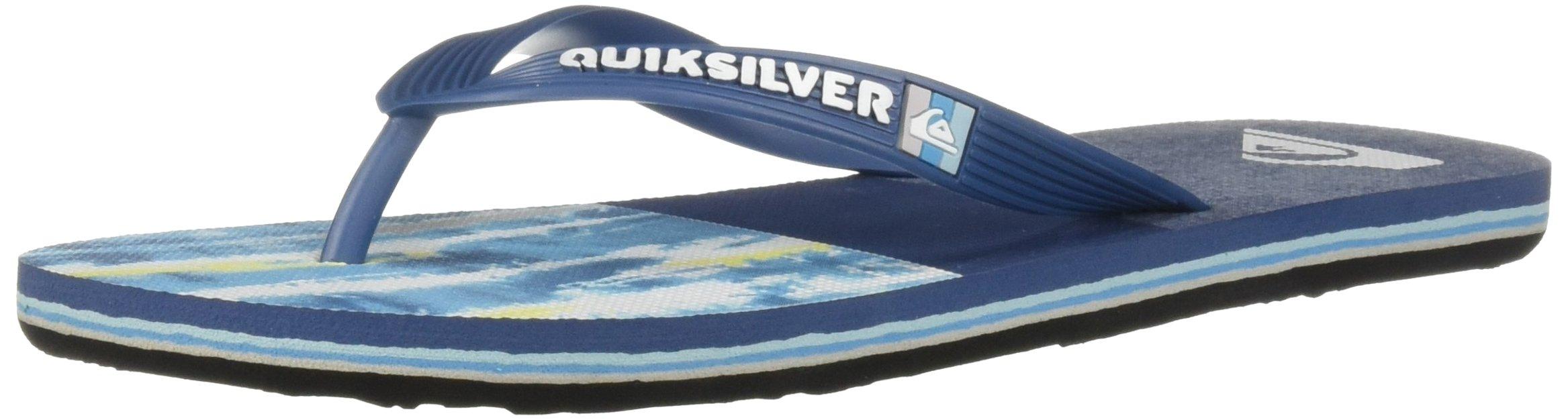Quiksilver Men's Molokai TECHTONICS Sandal Black Blue, 6(39) M US