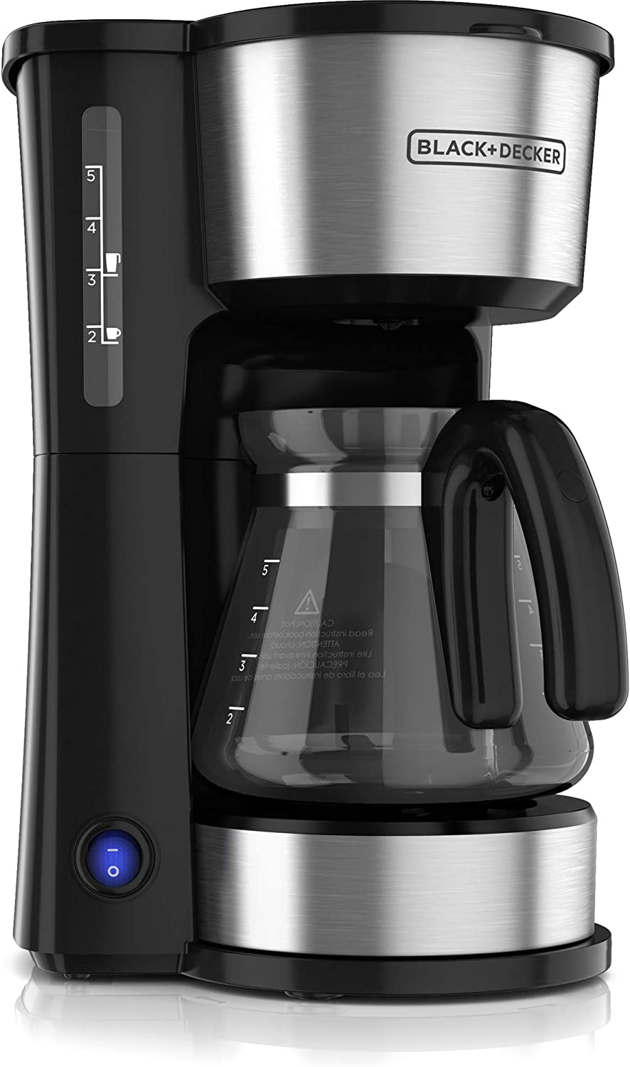BLACK+DECKER CM0755S-CL 4-in-1 Coffee Maker, 220V (Not for USA-European Cord), 5 Cup