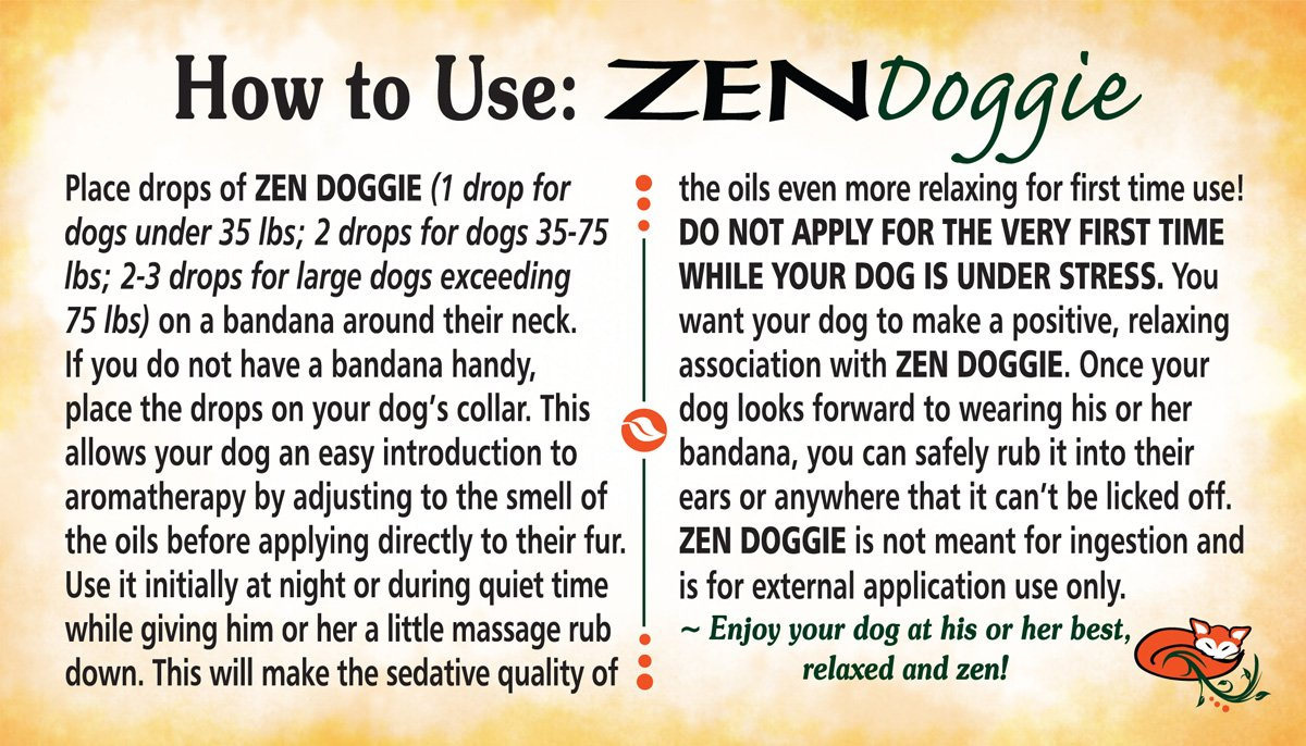 Amazon.com : Zen Doggie - An Aromatic Canine Calming Blend of Pure ...